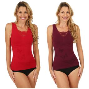 SLIM SECRET 2er Pack Top beere/rot