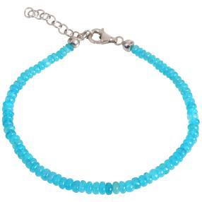Armband Äthiopischer Opal, türkis-blau