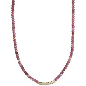 Collier Turmalin pink