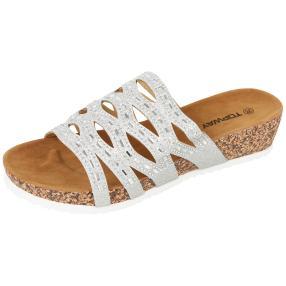 Topway Damen-Pantoletten silver