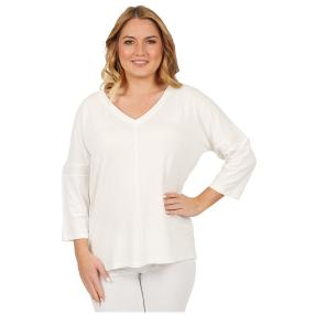 ManouLenz Shirt 'Lara' offwhite