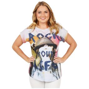 ManouLenz Shirt 'Rock your Life' multicolor