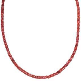Collier Äthiopischer Opal rot