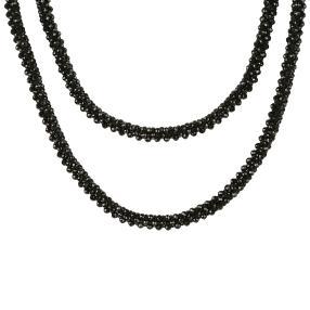 Collier schwarzer Spinell