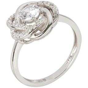 Ring 925 Sterling Silber Knoten mit Zirkonia
