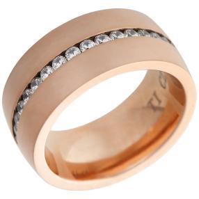 Ring Titan Zirkonia massiv rosé