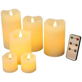 LED-Kerzenset elfenbein, mit Fernbedienung