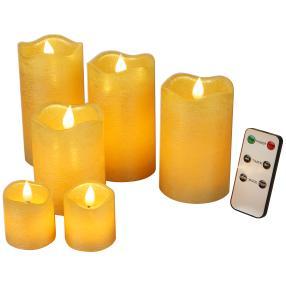 LED-Kerzenset gold, mit Fernbedienung