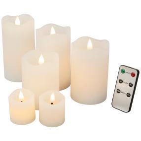 LED-Kerzenset weiß, mit Fernbedienung