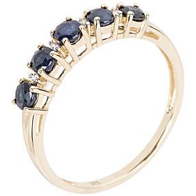 Ring 375 Gelbgold Saphir