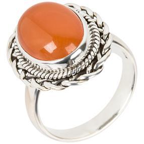 Ring 925 Sterling Silber rhodiniert Karneol