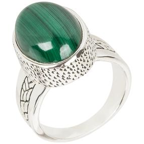 Ring 925 Sterling Silber Malachit