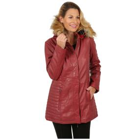 7eleven  Damen-Lederparka 'Holly' red