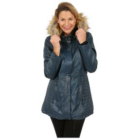 7eleven  Damen-Lederparka 'Holly' blau