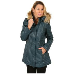 7eleven  Damen-Lederparka 'Holly' petrol