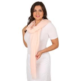Schal Made in Italy rose geschmückt