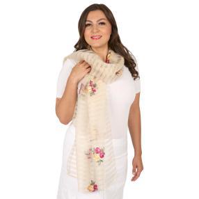 Schal Made in Italy beige geschmückt