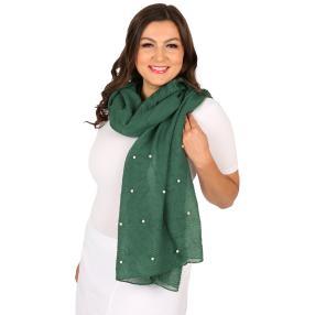Schal Made in Italy grün geschmückt