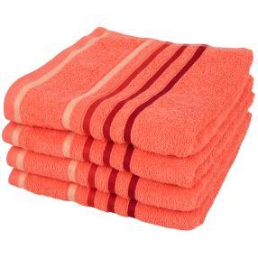 Handtuch 4er Set, orange