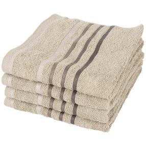 Handtuch 4er-Set taupe