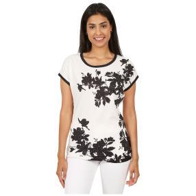 BRILLIANTSHIRTS Shirt 'Jasmin' weiß/schwarz