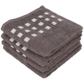 Handtuch 4er-Set anthrazit