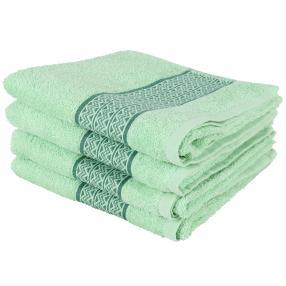 Handtuch 4er-Set grün