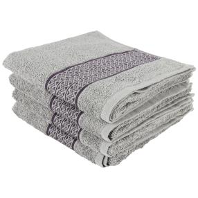 Handtuch 4er-Set silber