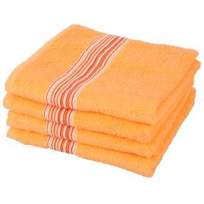 Handtuch 4er-Set orange