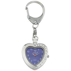 Etica Schlüsselanhänger mit Uhr, Modell Herz