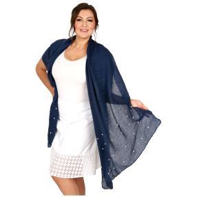 Schal Made in Italy blau geschmückt