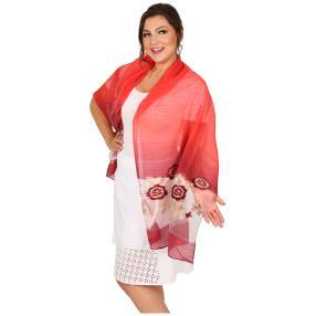 Schal Made in Italy rot geschmückt