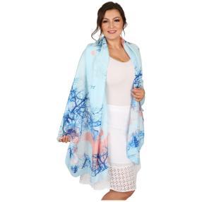Schal Made in Italy blau Seide