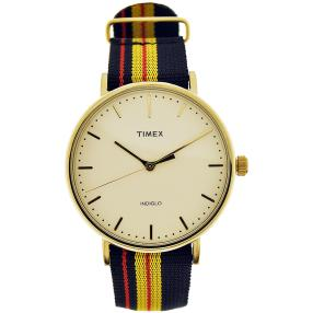 "Timex Herrenuhr ""Fairfield"" Quarz vergoldet gelb"