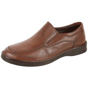 Dr. Feet Herren Nappaleder Slipper, braun