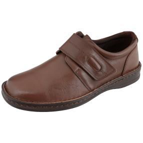 Dr. Feet Herren-Nappaleder Slipper, dunkelbraun