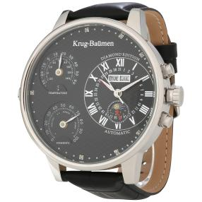 "Krug Baümen ""Weather"" Herrenuhr Automatik schwarz"