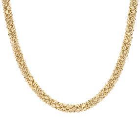 Collier 925 Sterling Silber, vergoldet, ca. 33 g