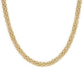Collier 925 Silber, vergoldet, ca. 33 g