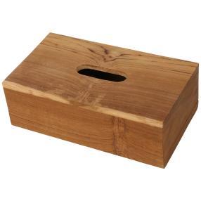 Tücher-Box Teakholz 23x12x6,5cm