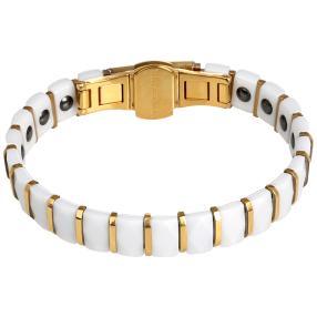 Armband Keramik & Edelstahl vergoldet