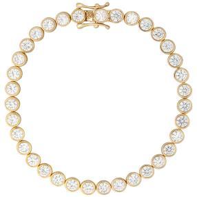 Armband 925 Silber vergoldet, Zirkonia