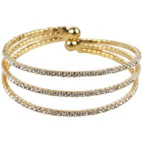 Kristall-Armreif vergoldet