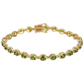 Armband 925 Silber vergoldet, Diopsid
