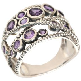 Ring 925 Sterling Silber Ametyst