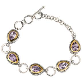 Armband 925 Sterling Silber Amethyst