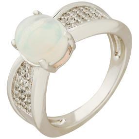 Ring 925 St. Silber rhodiniert Äthiopischer Opal