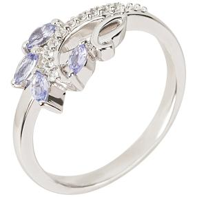 Ring 925 Sterling Silber rhodiniert Tansanit
