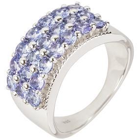 Ring 925 Silber rhodiniert, Tansanit