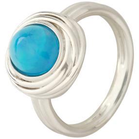 Ring 925 St. Silber Äthiopischer Opal blau